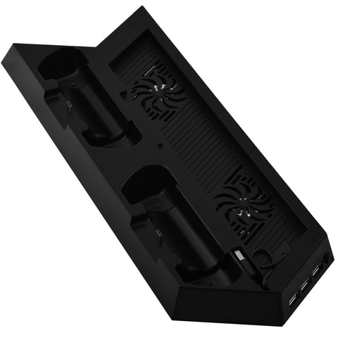 Playstation 4 Black Vertical Cooling Stand with Dual Controller Charging Stations