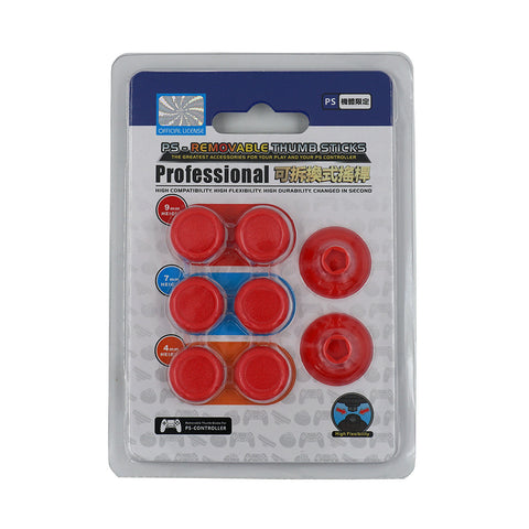 8 in 1 Removable Thumbsticks for PS4 - Red