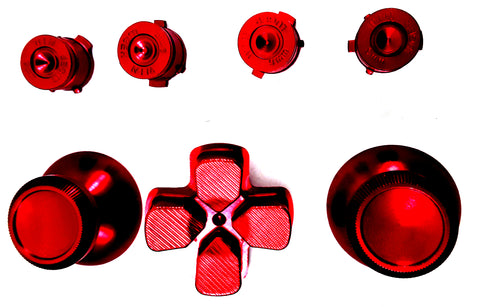Red Metal Buttons for PS4 Dual Shock 4 Controller