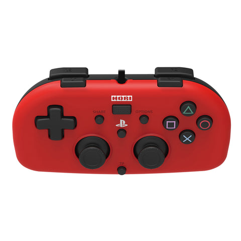 HORI Mini Gamepad Wired Controller for PS4 Red