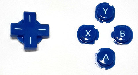 Original Pull ABXY D-pad Cross button set for the Nintendo 3DS