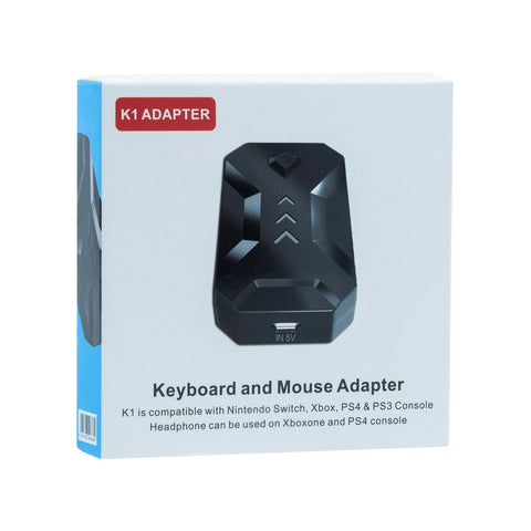 K1 USB Gaming Keyboard and Mouse Adapter for the Switch/Xbox One/PS3/PS4