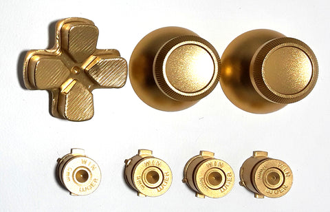 Gold Metal Buttons for PS4 Dual Shock 4 Controller