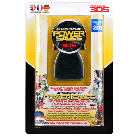 Nintendo 3DS 2DS Action Replay Power Saves with Cheat Codes PAL