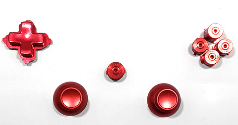Xbox One Controller Metal Button Set - Red
