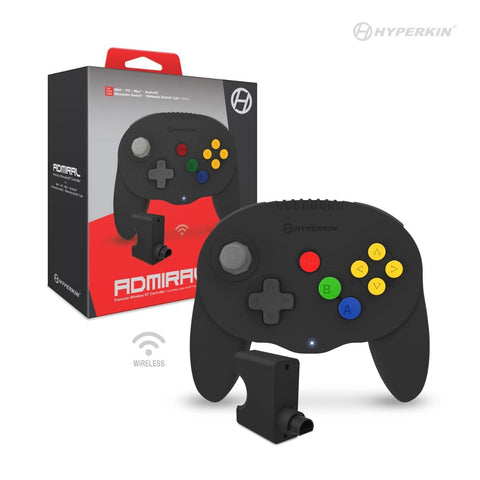 Black Admiral Premium BT Controller for N64/Switch/SwitchLite/PC/MAC/And