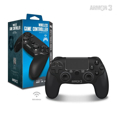 Black Wireless Game Controller for PS4/ PC/ Mac - Armor3