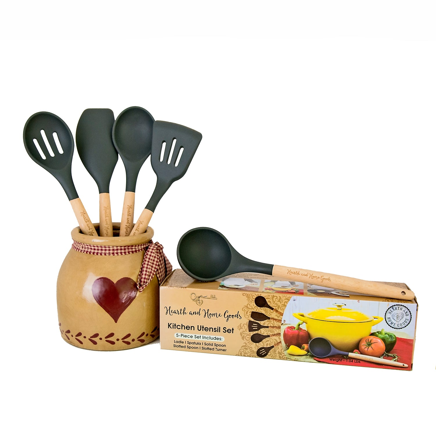 Kitchen Cooking Utensil Set - 5-Piece | Hearth and Home Goods