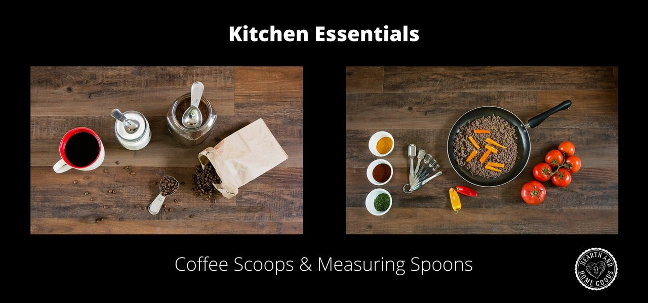 Hearth and Home Goods - New Arrivals - Coffee Scoops and Measuring Spoons!