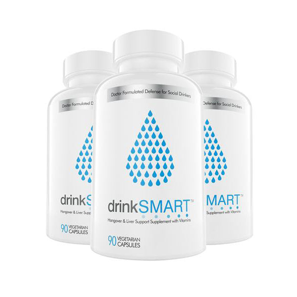 drinkSMART™ Remedy for Hangover, Detox & Liver Support (Pack of 3) - drinksmartproducts