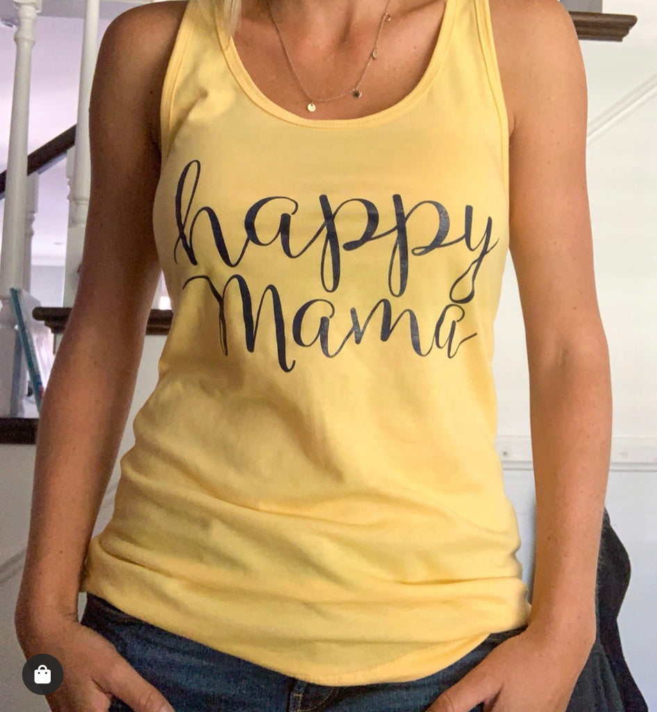 Buttercup Yellow Happy Mama Tank Top