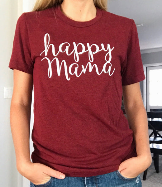Scarlett Red Short Sleeve Happy Mama Tee - Us+Four