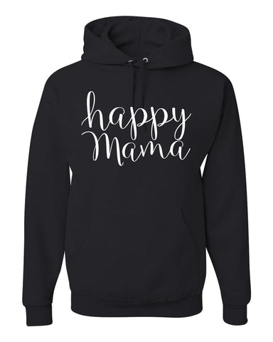 "Black 'Happy mama"" Hoodie - Us+Four"