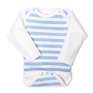 Blue Striped UnderBib Bodysuit