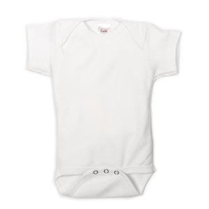 White Short Sleeve UnderBib bodysuit - Us+Four