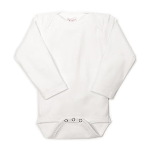 White Long Sleeve UnderBib bodysuit - Us+Four