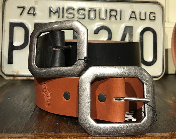 Schott NYC BLT1 Horween Leather Steerhide Belt - Sole & Blues