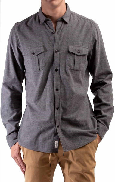 Civil Society Men's Baxter Woven L/S 2-Ply Shirt W/ Elbow Patches - Sole & Blues