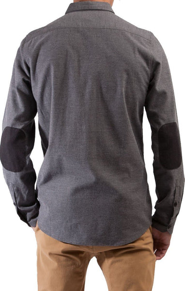 Civil Society Men's Baxter Woven L/S 2-Ply Shirt W/ Elbow Patches