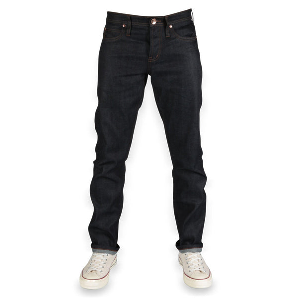 The Unbranded Brand UB122 Skinny Fit 11oz Indigo Stretch Selvedge Denim - Sole & Blues