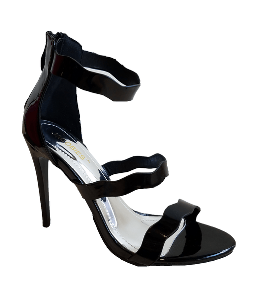 Jacobies Helena Patent Leather Heel - Sole & Blues