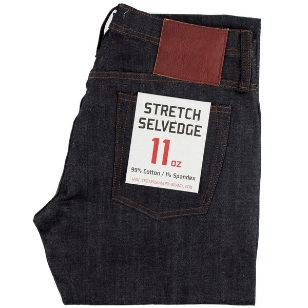 The Unbranded Brand UB222 Tapered Fit 11oz Indigo Stretch Selvedge Denim - Sole & Blues
