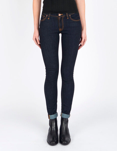Nudie Jeans Skinny Lin Dry Deep Orange - Sole & Blues