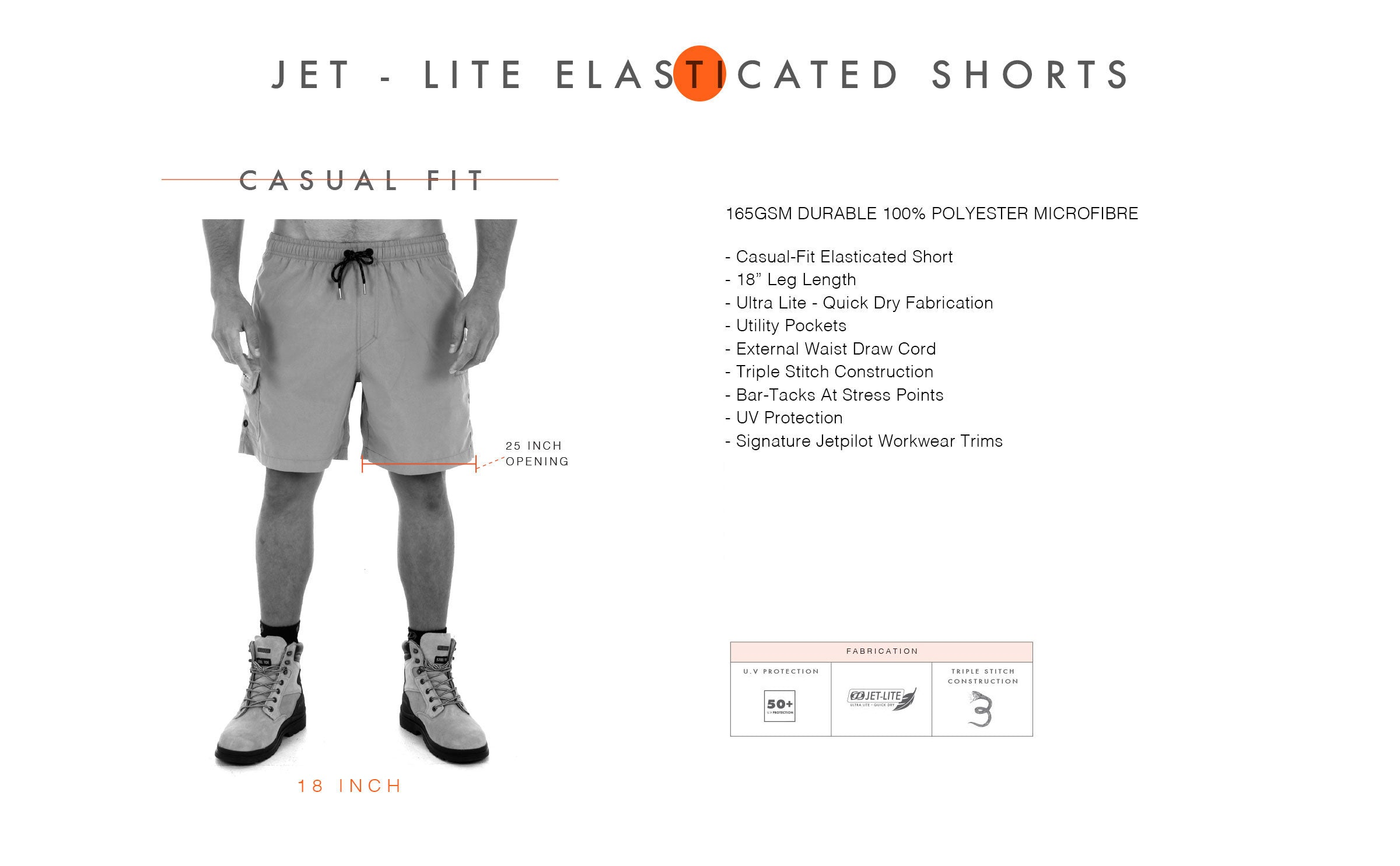 JP JETLITE ELASTICATED SHORT