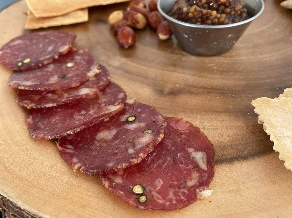 Spotted Trotter Black Pepper Sorghum Salami