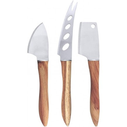 Swissmar 3 Piece Acacia Handle Cheese Knife Set