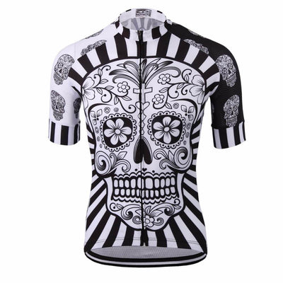 0639e3e35 Awesome White Skull Cycling Jersey - Grand Cycling