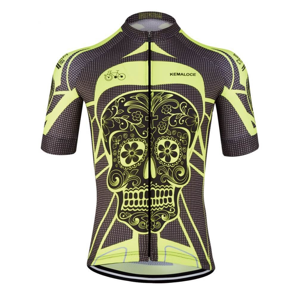 Awesome Black Skull Cycling Jersey 99c79df7d