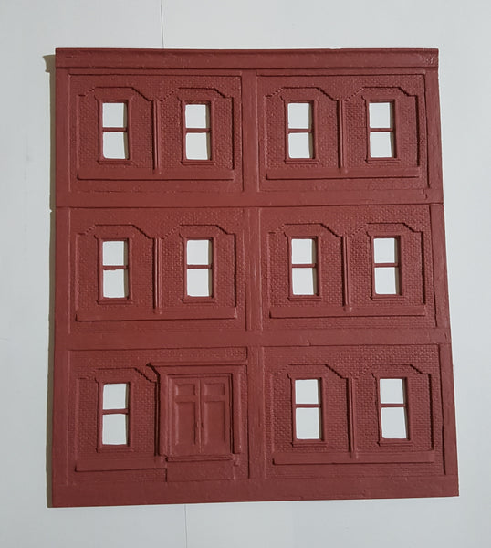 #D0067 - O Scale - Factory Wall #2 - Front Wall w/ Double Door