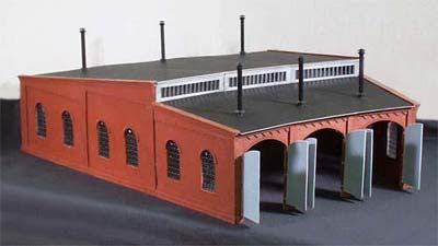 Korber #320 - O Scale - 3 Stall Locomotive Roundhouse Build Up