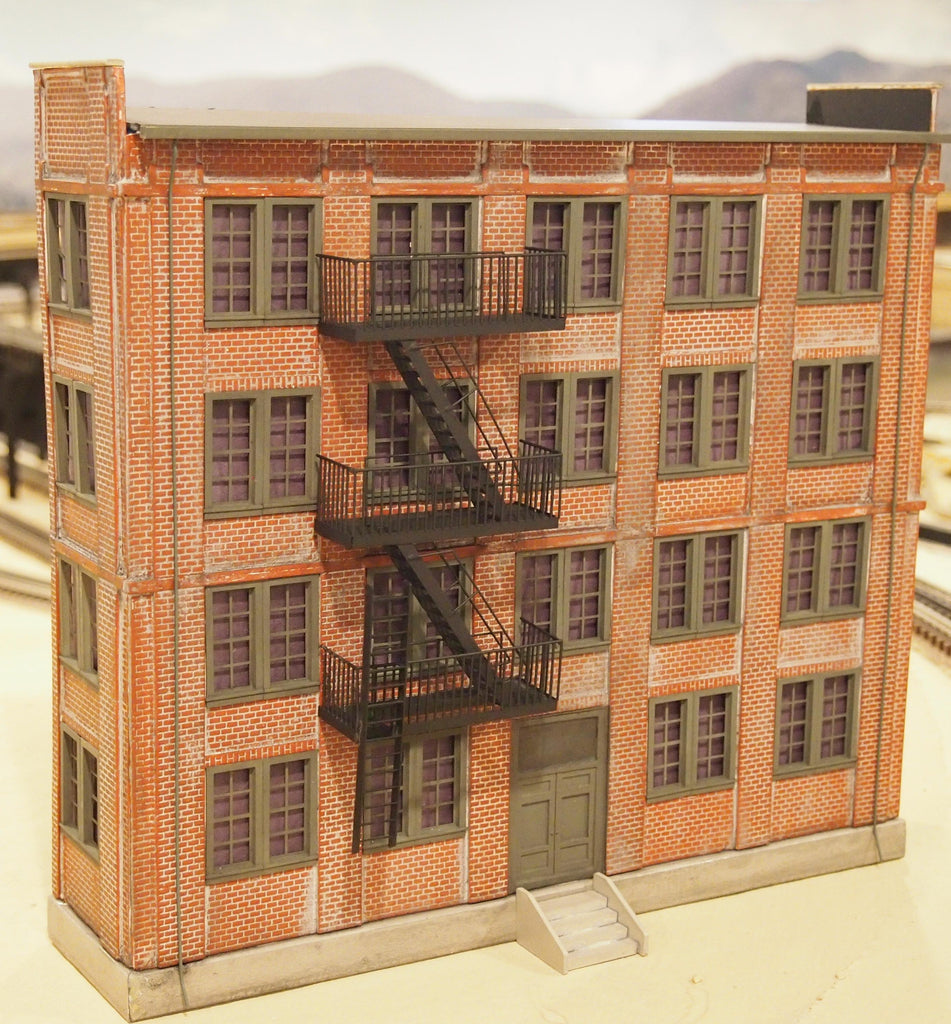 Accessories O Gauge Buildings : Korber models o scale background apartment building