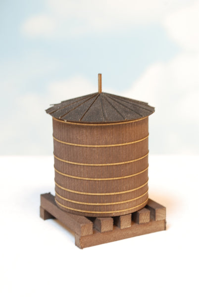 #701 - O Scale - Roof Top Wood Water Tank Kit