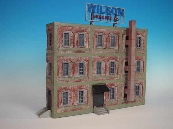 Korber #707 - O Scale - Background Grocery Building Build Up