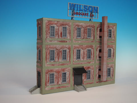Korber Models #707 O Scale Background Grocery Building
