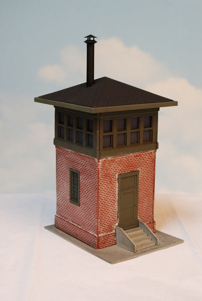 #927 - O Scale - Brick Switch Tower Kit