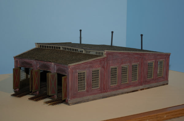 #104 - HO Scale - 3 Stall Roundhouse Kit