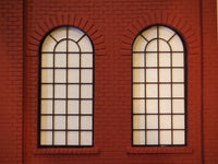 #D0012 - O Scale - Laser Cut Roundhouse Windows - Small (4-Pack)