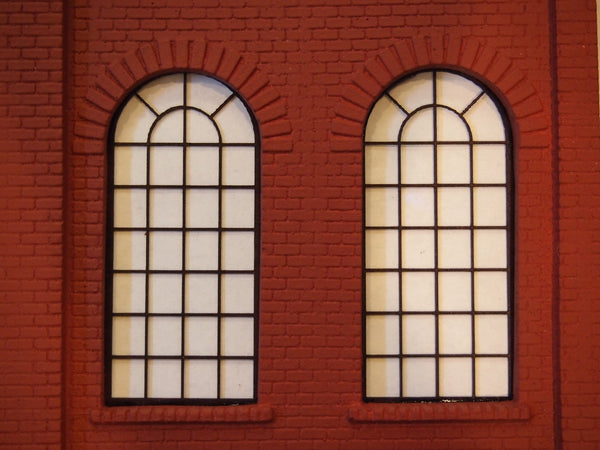 #D0013 - O Scale - Laser Cut Roundhouse Windows - Large (4-Pack)