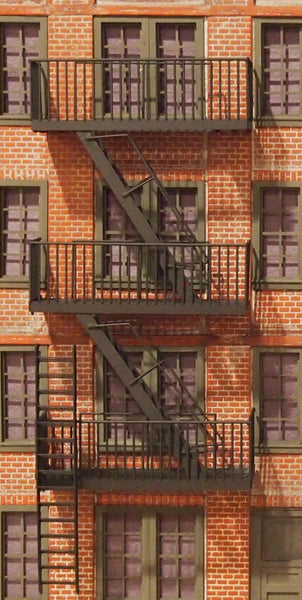 #D0014 - O Scale - Fire Escapes (3-Pack)