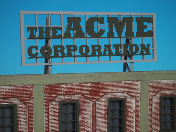 #D0024 - O Scale - Roof Top Sign – ACME Corporation