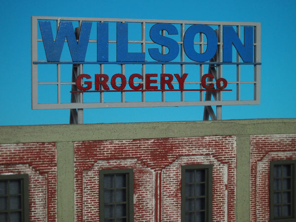 #D0027 - O Scale - Roof Top Sign – Wilson Grocery Co