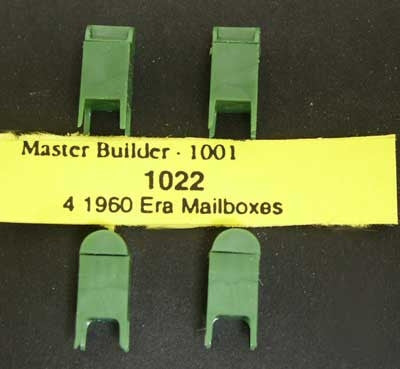#1022 - HO Scale - 1960 Era Mailboxes (4-Pack)