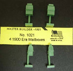 #1021 - HO Scale - Early 1900 Era Mailboxes (4-Pack)