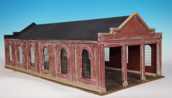 #307 - O Scale - 3 Stall Trolley Barn Kit