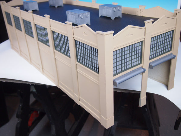 #MRS1032 - O Scale - 2 Stall Engine House Kit (Cement)