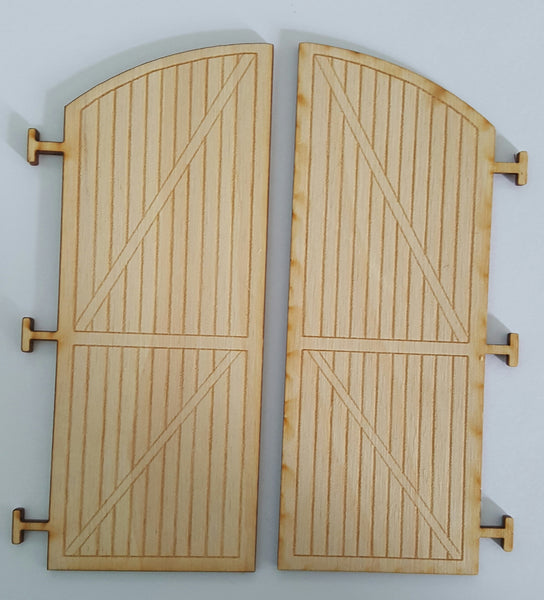 #D0011 - O Scale - Wood Round House Doors